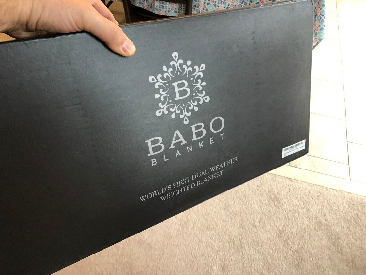babo weighted blanket box