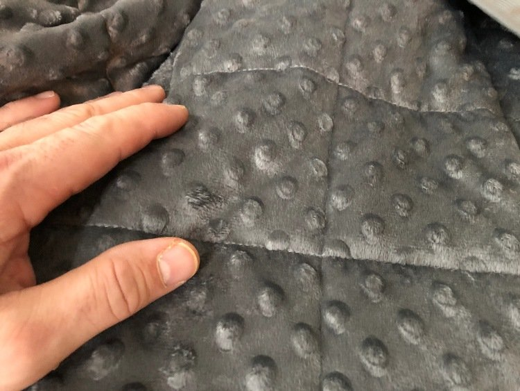 babo weighted blanket minky dots
